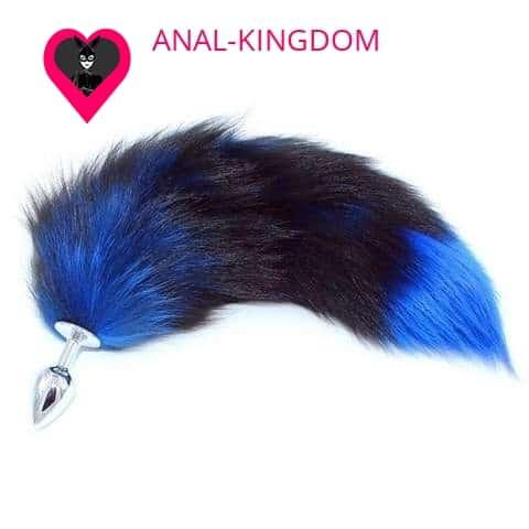 Anal Plug bright blue tail