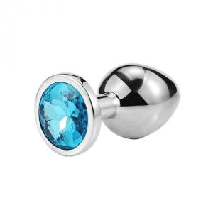 Blue diamond anal plug