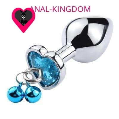 Blue metal anal plug with clip