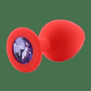 Diamond red diamond purple silicone anal plug
