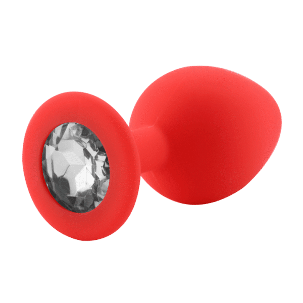 Diamond red silicone anal plug