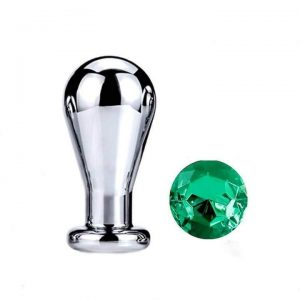 Green diamond bulb anal plug