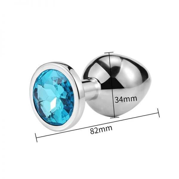 Medium Light Blue Diamond Plug