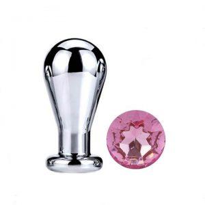 Pink diamond bulb anal plug