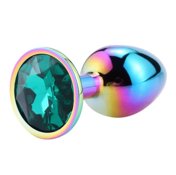 Rainbow Diamond Emerald Anal Plug