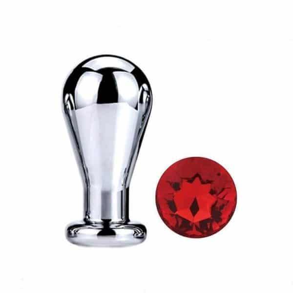 Red diamond bulb anal plug