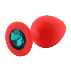 Red diamond emerald silicone anal plug