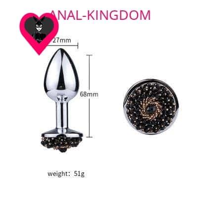 Size Anal plug with metal beads