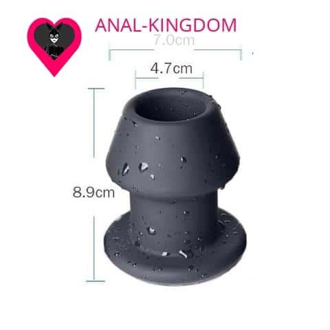 XL tunnel anal plug in silicone