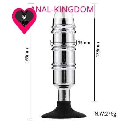 Suction cup anal warhead plug