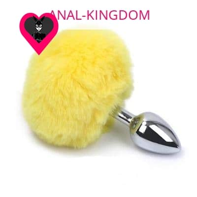 Sunny yellow rabbit tail plug