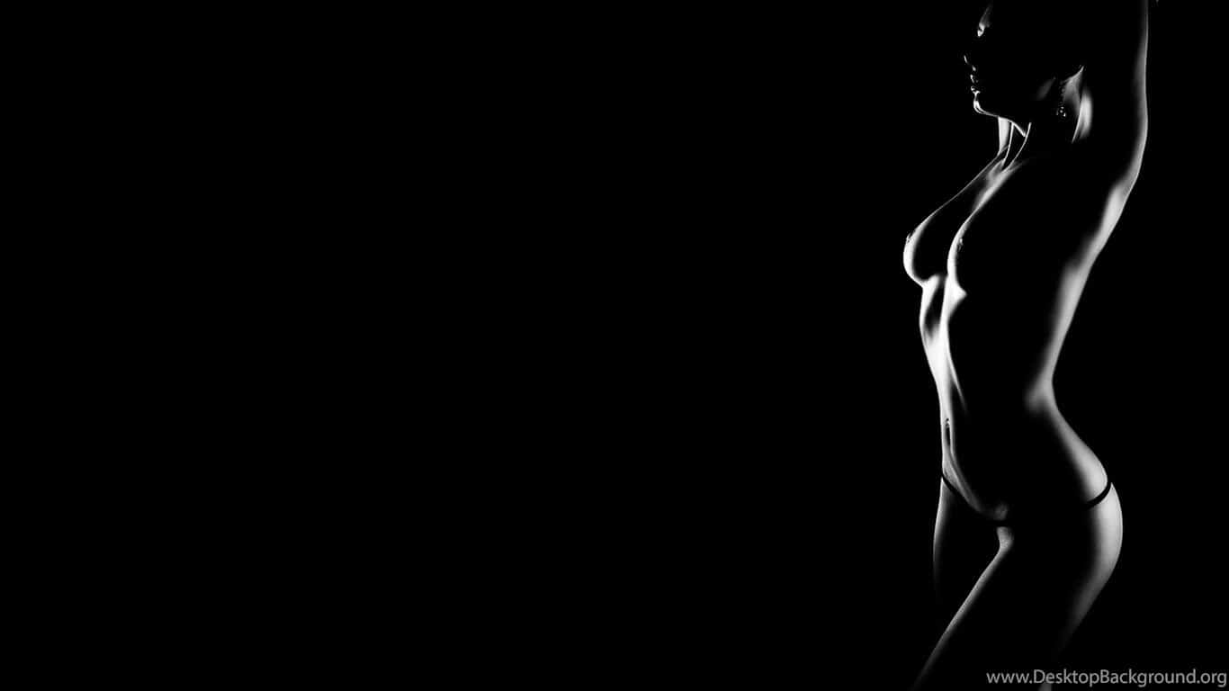 woman with a black background